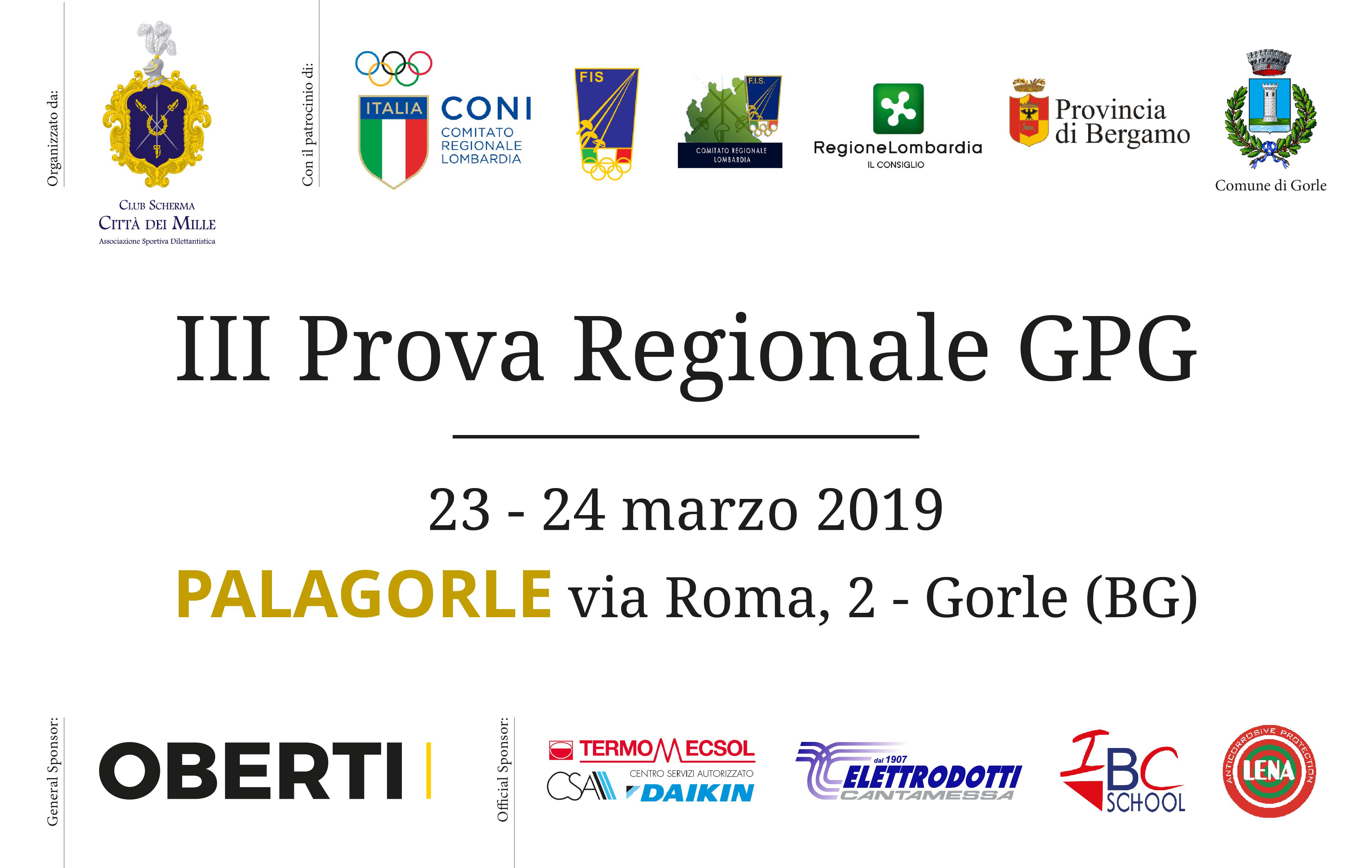 Locandina GPG Scherma Bergamo